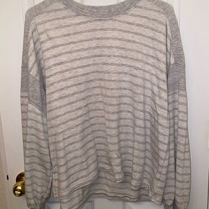 Oversized Striped Grey Sweater